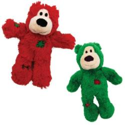 KONG Holiday Christmas Wildknots Bear Dog Toy - Small/Medium