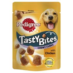 Pedigree Tasty Bites Chewy Cubes With Chicken (130g)