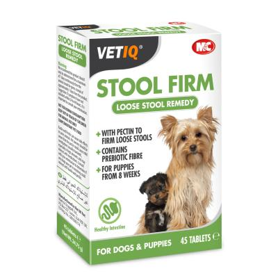 M&C Stool Firm-UM Hardens Loose Stools For Dogs & Puppies (45 Tablets)