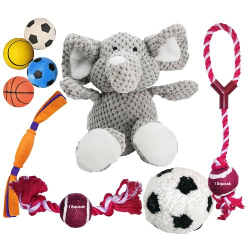 DOTS MILTON KEYNES DONATION - Pack Of 9 Toys For Dogs Balls Rope Plush And Rubber