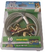 Four Paws Tie Out Cable Heavyweight 10 Foot Silver