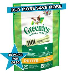 Greenies Dental Treats For Dogs - Petite - 5 Pack - BBE: 08/10/20