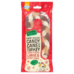 Armitage Pawsley Braided Candy Cane With Turkey 22cm (Large)