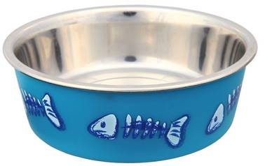 Trixie Stainless Steel Patterned Cat Bowl 12cm