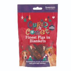 Rosewood Cupid & Comet Finest Pigs In Blankets For Dogs 100g