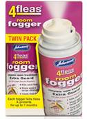 Johnsons 4Fleas Room Fogger Household Flea Removal and Prevention - Twin Pack - 2 x 100ml