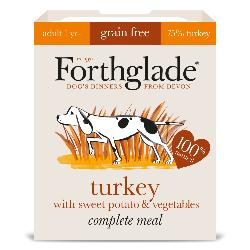 Forthglade Grain Free Turkey & Vegetables Natural Complete Dog Food Tray 395g