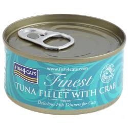 Fish4Cats Wet Cat Food Finest Tuna Fillet with Crab 70g