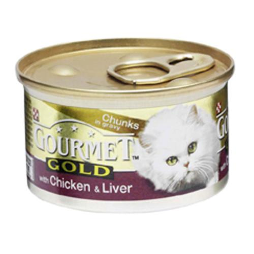 Gourmet Gold Cans 85g Chicken & Liver Chunks in Gravy