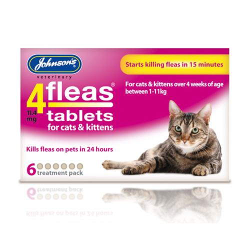Johnson's 4 Fleas Tablets - Cat Flea Tablets x6