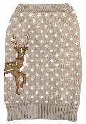 Sotnos Reindeer Christmas Jumper For Dogs Extra Small