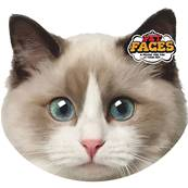 Rosewood Cat Pet Face Cushion Ragdoll Cat