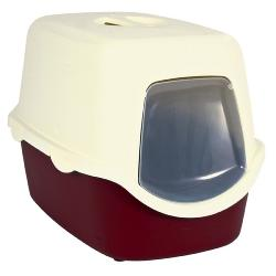 Trixie Vico Litter Tray With Dome 40x40x56cm Bordeaux/Cream