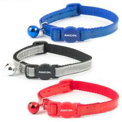 Ancol Safety Reflective Gloss Cat Collar With Bell