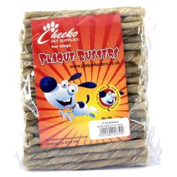 Cheeko Plaque Busters Rawhide Chew Twists (Pack Of 100)