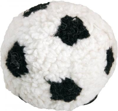DOTS LONDON DONATION - James Steel Plush Berber Football With Squeaker Dog Toy 23cm