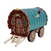 Vivid Arts Miniature World Red Gypsy Caravan