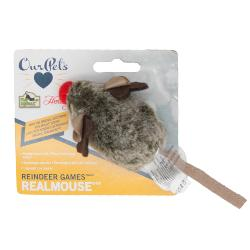 Our Pets Reindeer Games Real Mouse Toy