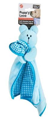 Puppy Love Soft Blanket Toy Blue
