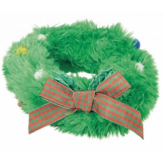 Light Up Christmas Wreath Dog Collar