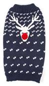 Ancol Blue Christmas Reindeer Sweater Extra Extra Small