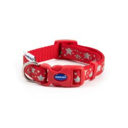 Ancol Star Reflective Adjustable Collar - Red