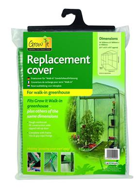 Gardman Walk In Greenhouse Replacement Cover 190x190x125cm