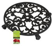 Gardman Cast Iron Pot Trolley Round 31x6cm
