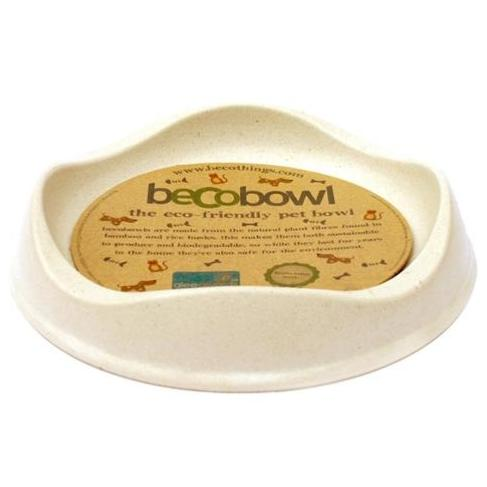 Becobowl Eco-Friendly Biodegradable Pet Bowl For Cats, Natural 0.25 Litre