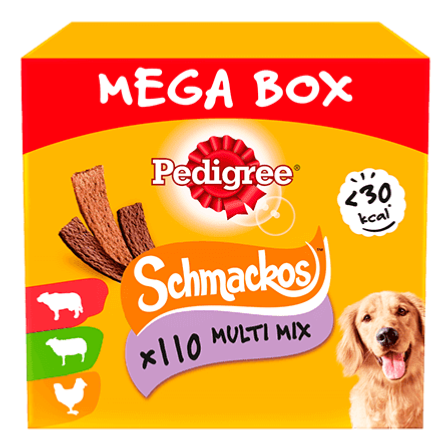 Pedigree Schmackos Dog Treat Mega Box Multi Mix 110 Sticks