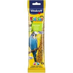 Vitakraft Kracker Budgie Treat Sticks (2 Pack) - Kiwi & Citrus