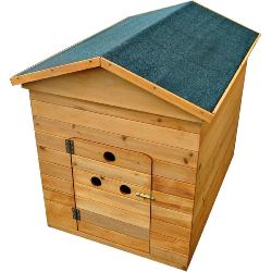 Wooden Dog Kennel With Door (Small)