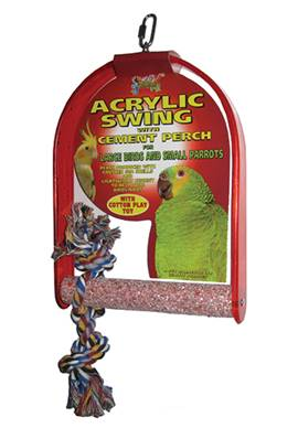 Large Acrylic Parrot Swing