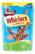 DOTS BOURNEMOUTH DONATION - Bakers Whirlers Dog Treats - Bacon and Cheese 175g