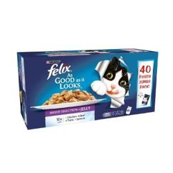 Felix As Good As It Looks Multipack Pouch 40x100g Mixed Selection In Jelly