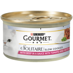 Gourmet Solitaire Cat Food - Beef In Sauce with Tomato and Spinach - 85g