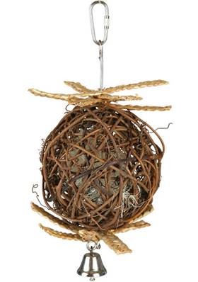 Wicker Ball With Bell, 10 Cm/22 Cm