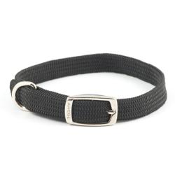Ancol Nylon Softweave Puppy & Small Dog Collar - Black