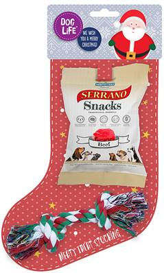 Dog Life Meaty Treat Christmas Stocking For Dogs