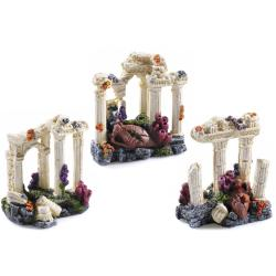 Classic Grecian Column Ruin Aquatic Ornament (Assorted)
