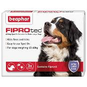 Beaphar Fiprotec Spot On Flea Removal and Prevention for X-Large Dogs (40 - 60kg) - 3 Treatments