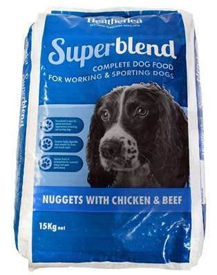 Heatherlea Superblend Nuggets Dog Food For Sporting Dogs - Chicken and Beef 15kg