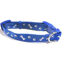 MADRA DONATION - Ancol Blue Paw 'n' Bone Reflective Adjustable Collar