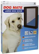 Dog Mates Dog Door- Large / Brown