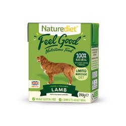 Naturediet Gluten Free Wet Dog Food (Adult) - Lamb, Veg and Rice 390g
