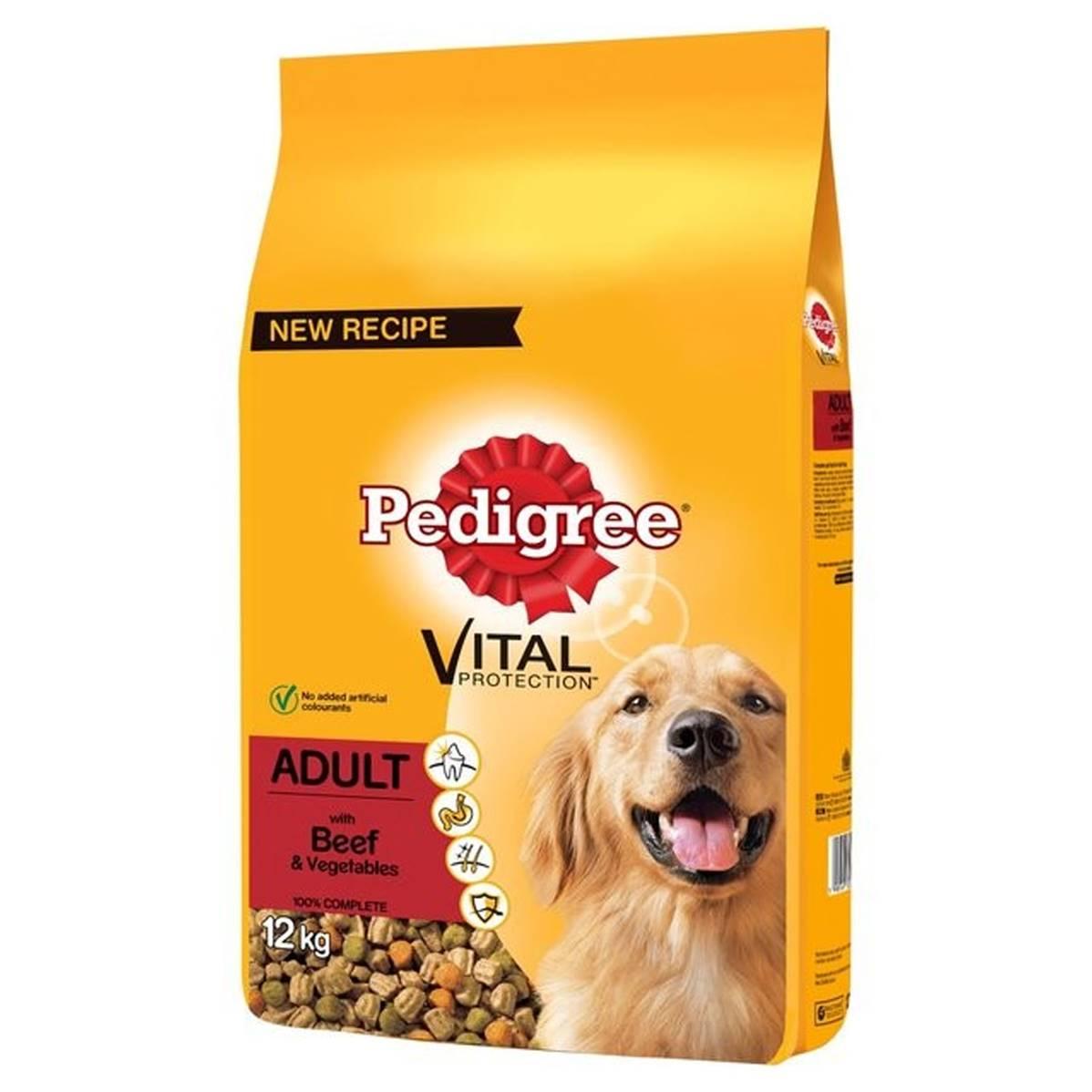 Pedigree Complete Dog Food Adult Beef 12kg