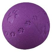 DOGS IN DISTRESS DONATION - Trixie Toy Ball, Natural Rubber 6cm