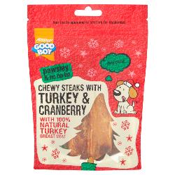 Armitage Pawsley Chewy Steaks With Turkey & Cranberry 90g