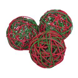 Rosewood Festive Weave-a-Ball Small Pet Toys - 3 Pack