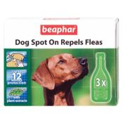 Beaphar Dog Flea Repelling Spot On with Plant Extracts - 12 Week Pack